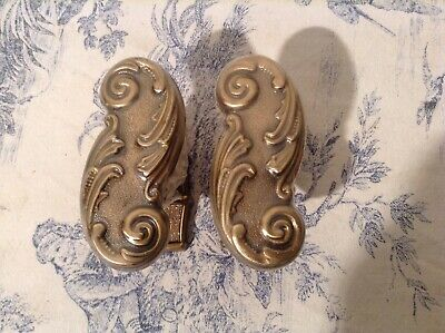 French Ornate Window Shutter Handles / Door Knobs - NOS (3702)