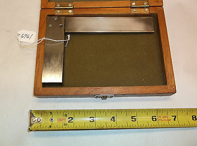 Square 5 Machinist Square With Wooden Storage Box