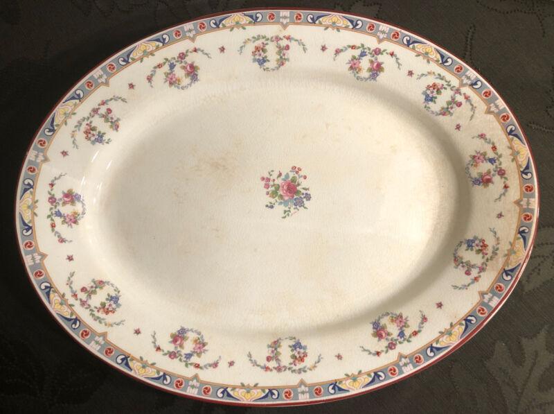 """Rare Early 1900s J & G Meakin 15 3/4"""" Serving Platter / Plate Kew Pattern"""