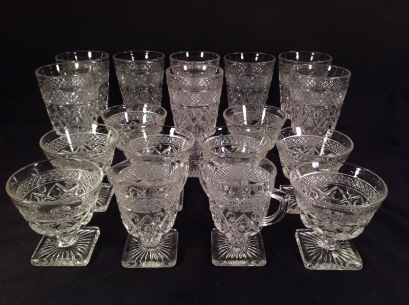 Imperial Glass Cape Cod Set Of 18 Pieces