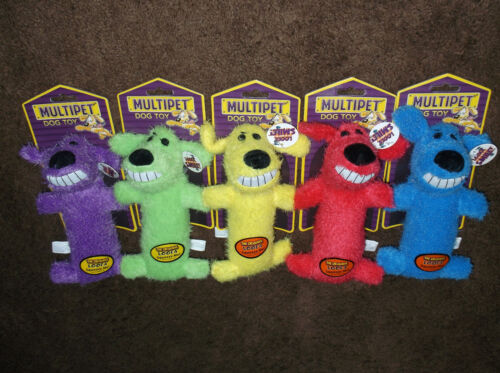 """Lot of 9 - 6"""" Cute Loofa Dog Toys by Multipet for Puppy for XXS, XS, Sml Dogs"""