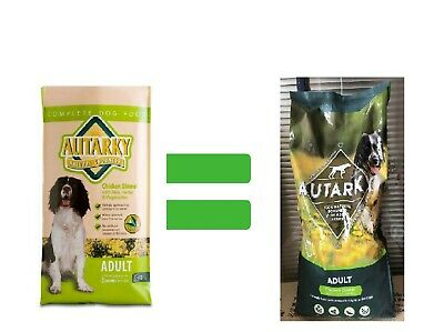 Autarky Adult Dry Dog Food Chicken Dinner 18kg Dog Feed  NEW 3KG BIGGERPACKAGING