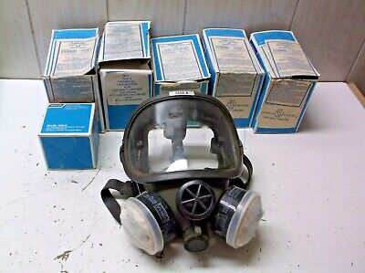 Norton Respirator Mask 7600-8 Wcartridges Vintage Unit