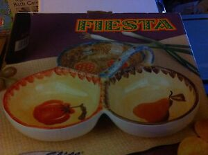 Fiesta serving plate with handle never used in box