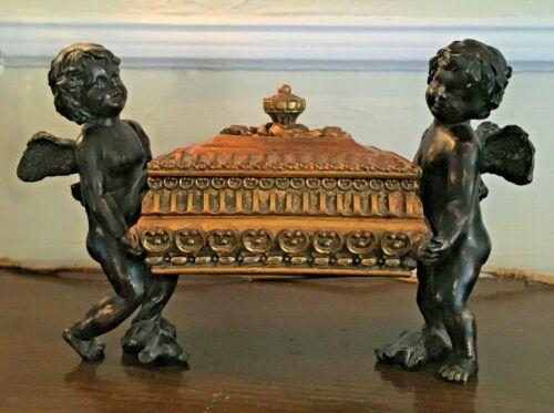 Antique Victorian Cherub Jewelry Casket Box ?