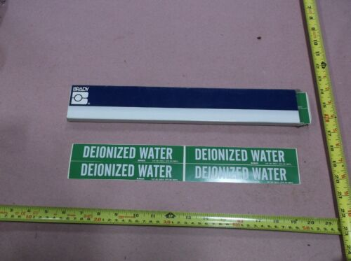 """DEIONIZED WATER"", Pipe Marker, 1-1/8""H, 7""W (25 sheets, 4 stickers per sheet)"