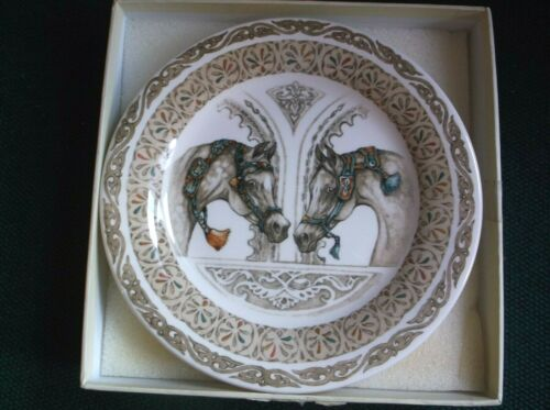 """NEW  Plate Horse  Chevaux du Vent From GIEN  6 1/2"""""""