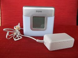 iHome LED Color Changing Dual Alarm Clock FM Radio Speaker System NICE!!!