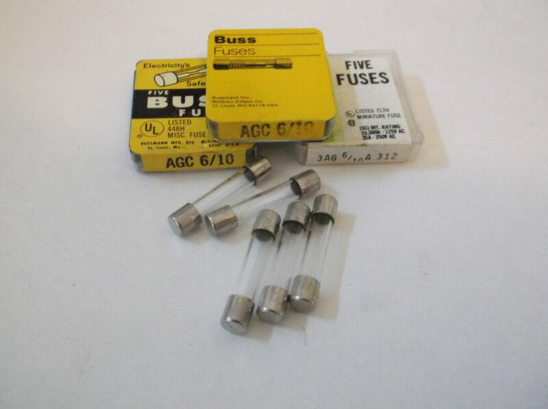 AGC- 6/10 FAST BLOW FUSE 250 VOLT  (5 PACK)