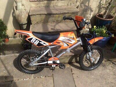 Kids Bike Used, In Style Of Motorbike. Halfords, Hardly Used. New RRP £130