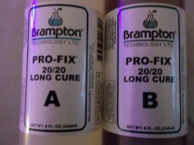 20 20 Pro Fix Golf Club Adhesive Long Cure  Brampton Tech 2 8Oz Bottle 16Oz Kit