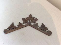 Antique Original German Black Forest Banhoff Carved Roof Trim for Cuckoo Clock
