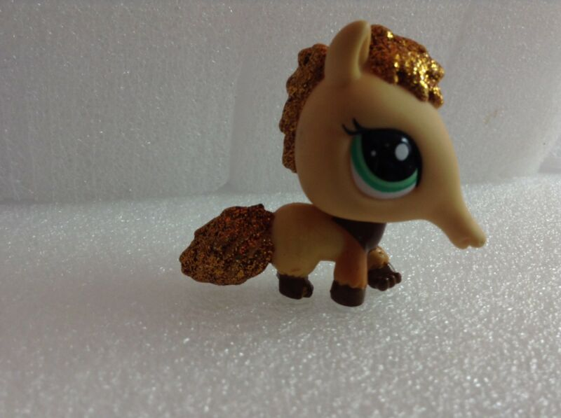 LITTLEST PET SHOP LPS Gold Tan Glitter Sparkle ANTEATER