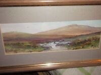 Small Framed Glazed Original Watercolour Autumn On The Moor Signed Robert Piper -  - ebay.co.uk
