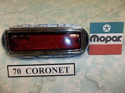 DRIVER SIDE REAR MARKER LIGHT ASSEMBLY: 70 CORONET, SUPER BEE,  R/T,  OEM & NICE