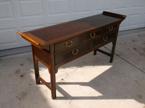 Hekman Mahogany 5 Drawer Asian Style Alter Table Sideboard/Buffet