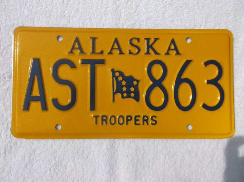 Alaska State Troopers License Plate