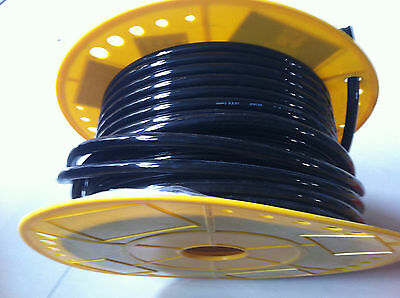 Tube Pu Pneumatic Hose 4mm X 6mm For Pneumatics 25meter Black Color
