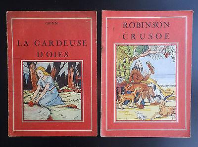 Lot de 2 anciens livres de conte Illustré par Rigot et Thomen Chagor Gordinnes