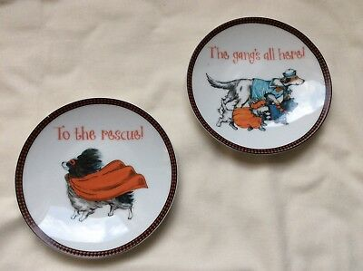 Pier 1 Imports Plate Halloween Dogs Appetizer Plate ( set of 2 ) - Halloween Dinnerware Plates