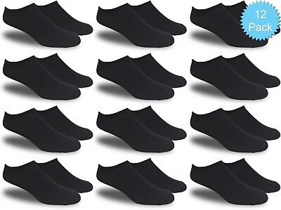 Men's All Black Thin and Lightweight Low Cut Ankle Socks (Value Pack of 12)