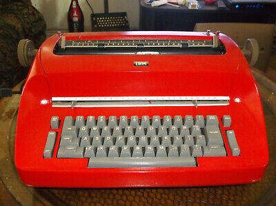 Ibm Vintage Antique 1960s Red Selectric I Serviced And Tested Works Great
