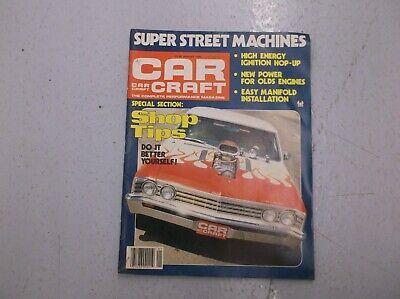 CAR CRAFT MAGAZINE JANUARY 1980 SHOP TIPS EASY MANIFOLD INSTALLATION HOT ROD (Easy January Crafts)