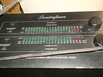 Soundcraftsmen A5002 Class H Amplifier With Owners Manual