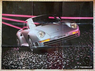 Vintage 1986 Porsche Brochure with 959 Poster