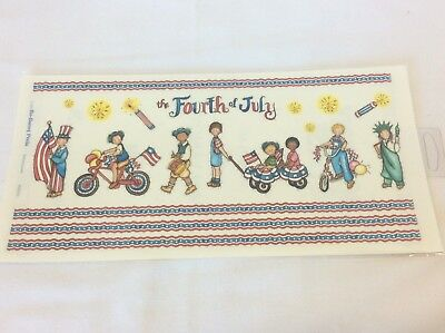 SCRAPBOOKING Stickers  Fourth 4th of July Parade Kids Fireworks Stars Uncle -
