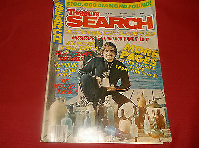 Treasure Search Magazine Vintage June 1976