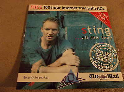 Sting Uk Mail On Sunday Aol Cd Ex Live Tracks Videos Fragile Etc 2001
