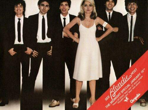 "BLONDIE 1979 ""PARALLEL LINES"" PROMO POSTER FLYER-DEBBIE HARRY-CHRYSALIS RECORDS"