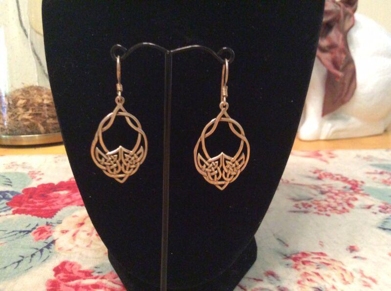 Pretty Brass Celtic Earrings