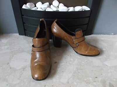 Hogl Ladies Tan Brown Leather Mid Heel Shoe Boots Size EU 41 UK 7