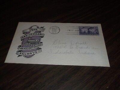 MAY 1944 UNION PACIFIC TRANSCONTINENTAL RAILROAD SOUVENIR ENVELOPE #10 SFO