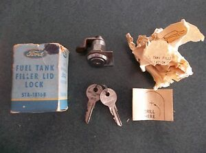 1941 to 1948 Ford, Merc & Monarch NOS gas tank filler lid lock