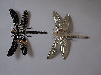pack of four beer can dragonfly die cuts