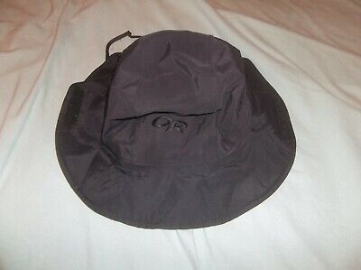 37bedb22 Outdoor Research Seattle Sombrero Gore-tex Hat USA Made Black Logo Navy  SEAL Med