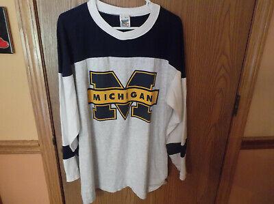 Official Fan Sportswear,Michigan Wolverine CottonPullover Shirt,Size Lg,Made USA