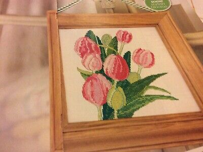 Pink Tulip Bouquet Floral Pattern Cross stitch chart Only (905), used for sale  Shipping to South Africa