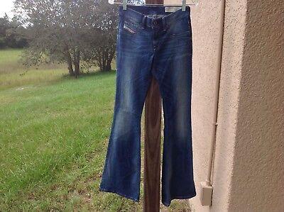 Diesel Industry Jeans W 28 32 L Livier-Flare Super Slim Low Waist 0841Y Wash EUC