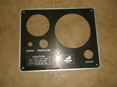 "Morgan Yacht Gauge Panel -FOR Ignition, Blower, Temperature  6"" X 7.25"""