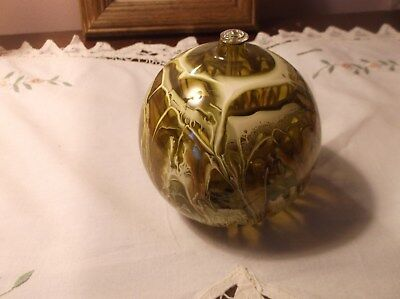 Reed Diffuser   Green Globe   New   Interesting Green  Gold   Cream Pattern