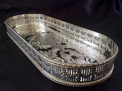 Fabulous VINERS Of Sheffield Silver On Copper Gallery Tray C.1930