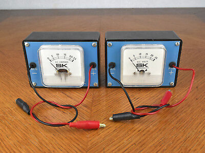 Sk Science Kit Inc Dc Volts 02-20-669 And Amperes 02-20-685 Meters
