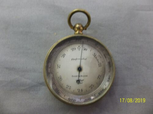 Antique Short and Mason London Tycos Compensated barometer