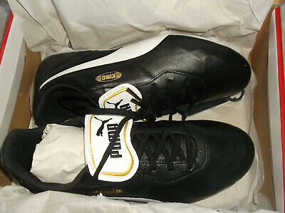 Puma King Top Sg  FOOTBALL BOOTS, 105733-01, COLOR Black/White, UK 7.5, EUR 41