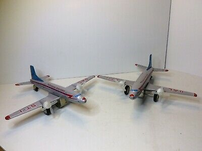 Vintage Tin Friction Toy Overseas Air Lines (WORKS ,NICE!