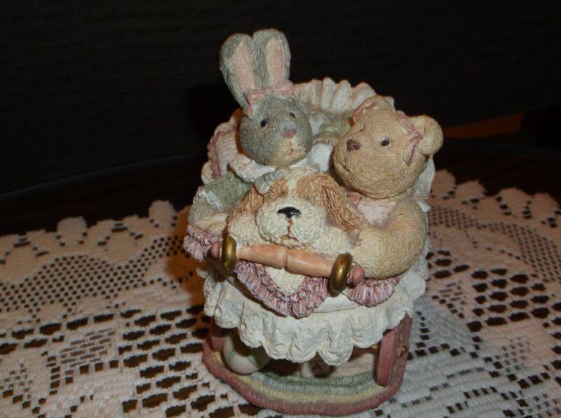 Trinket box Baby/Nursery Decor, Figi Graphic, Buggy Ride inside heart